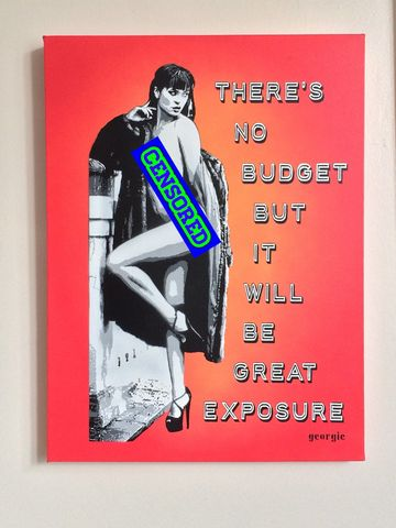 Great,Exposure,by,Georgie,Stencil,on,Canvas,Signed limited edition print, , Georgie