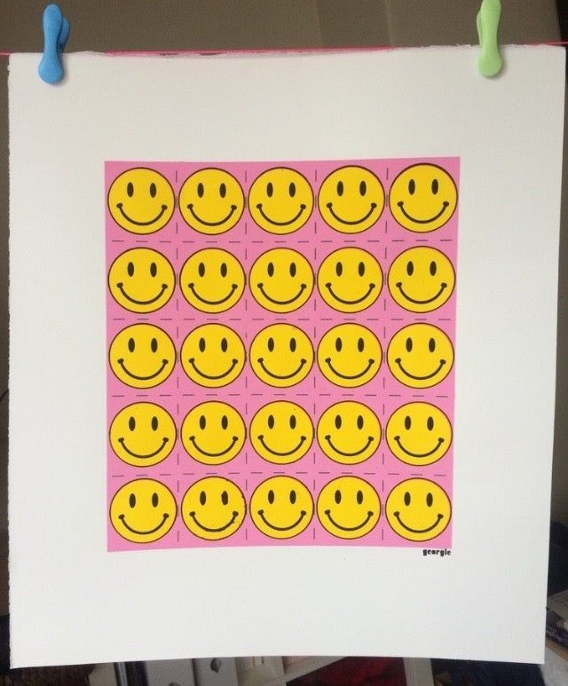 Acid Warhol by Georgie limited edition 4 colour screen print - product images