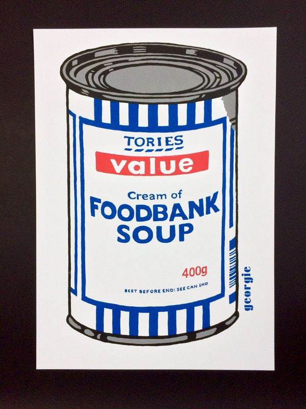 Foodbank Soup by Georgie limited edition 4 colour screen print - product images