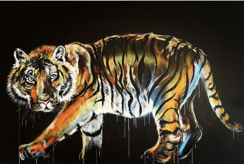 On,the,prowl,ORIGINAL,by,Sophie,Long,Original art