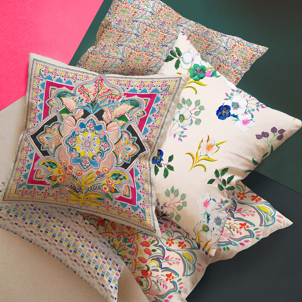 Jericho Design House Ornate Collection Cushions Fabrics Prints Textiles