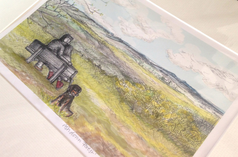 ashdown forest, gift, lalabuds, rebecca carr, artist, illustrator, hand drawn
