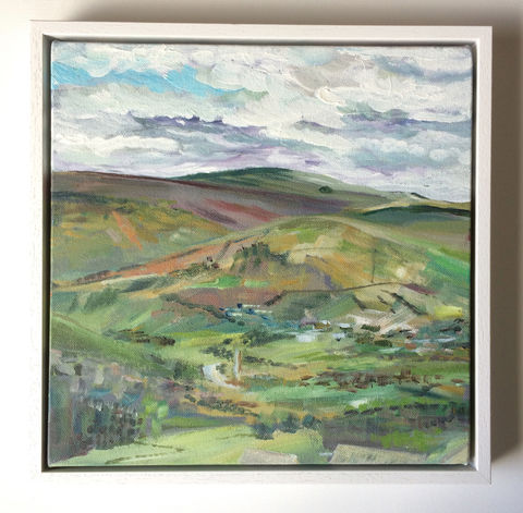 Over,the,Valley,acrylic painting, rebecca carr artist, dales, artforsale, artoftheday, original artwork