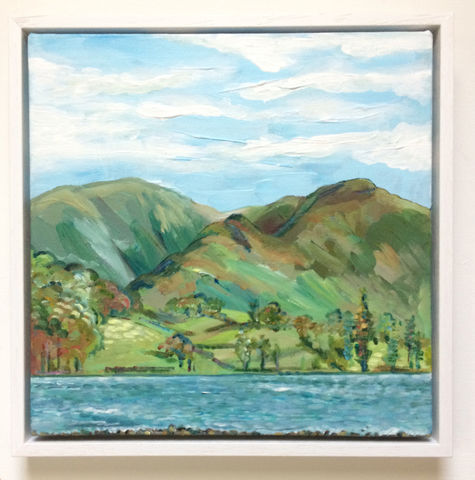 Ullswater,cumbria, ullswater, painting, art, rebecca carr artist, landscape painting, lalabuds