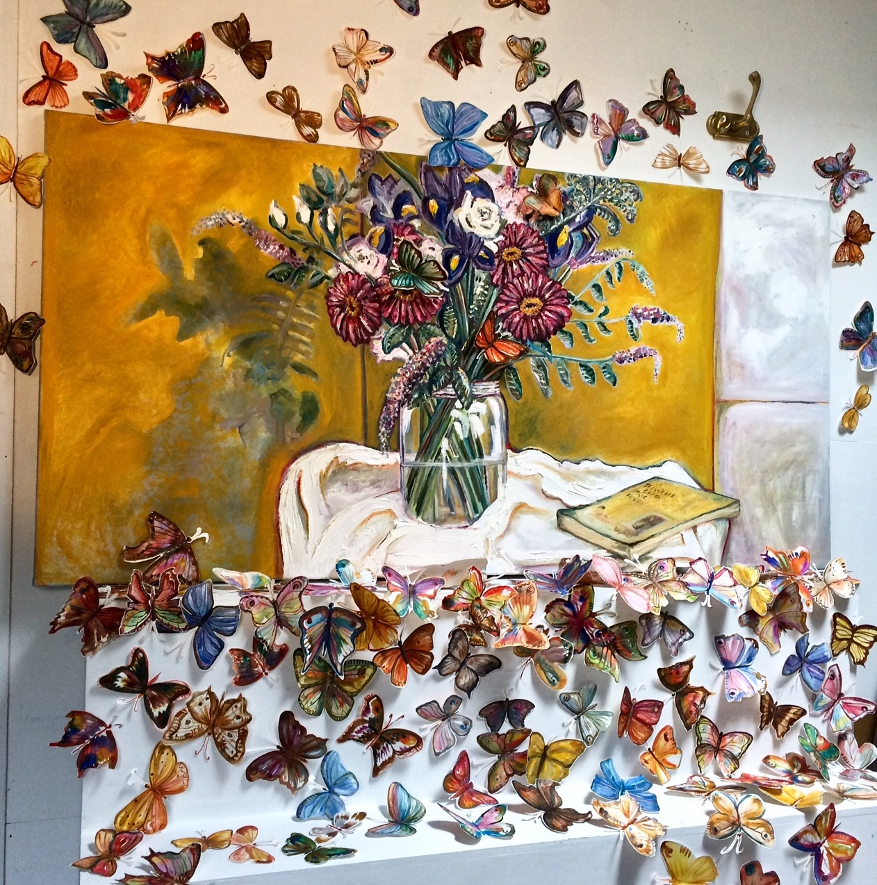 Flowers and Butterflies by artist rebecca carr