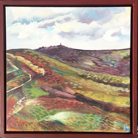 Early,summer,on,the,Moor,by,Rebecca,Carr,Artist,£25,of,sale,goes,to,Red,Cross,moorland, summer, walks, painting, artist, art, landscape painter, rebecca carr artist