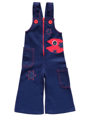 """DISCO-FISH"",OVERALLS,-,12-18M,Black Saturn, retro, kids, clothing, vetements, enfant, unique, trendy, cool, fashion, disco, star, étoile, fish, poisson, unisex, overalls, salopette, rayures, kawaii, made in france, saturday night fever"
