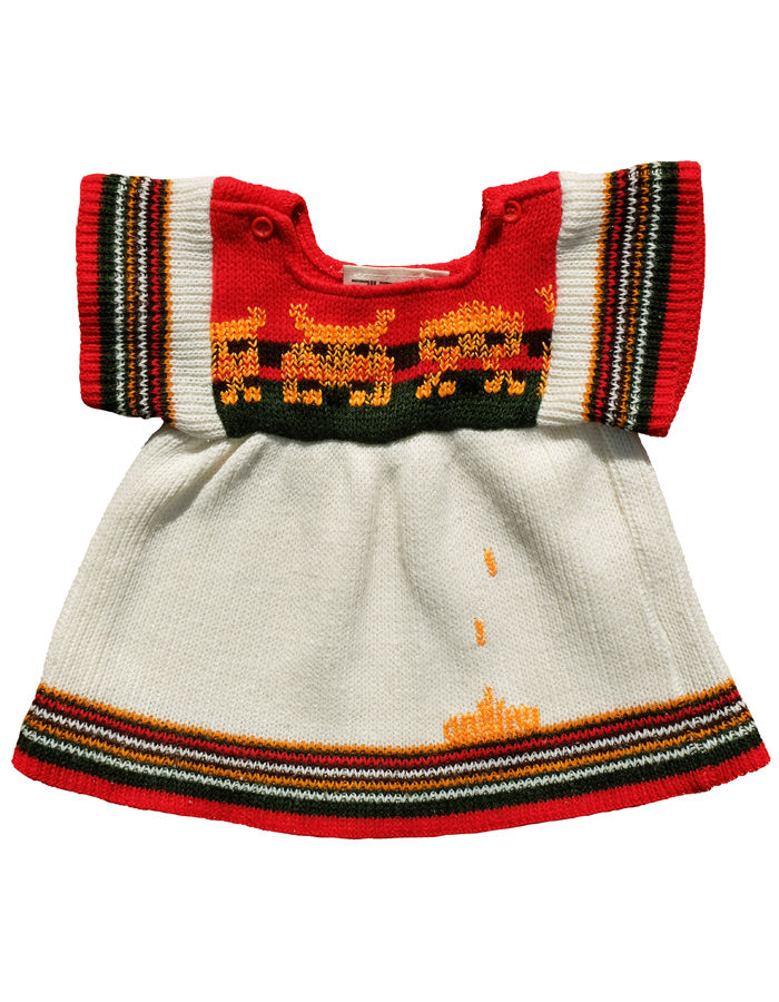"""SPACE INVADERS"" KNITTED DRESS/TOP - 6-18M - product images  of"