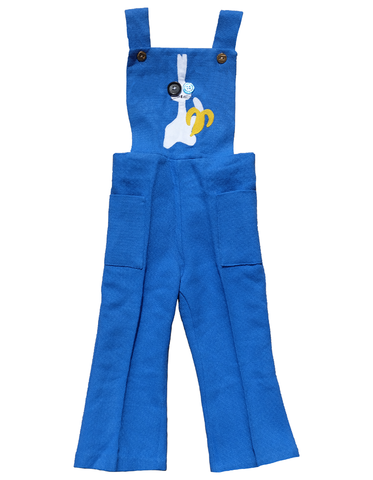 """THE,BUNNY,UNDERGROUND"",OVERALLS,-,18M,Black Saturn, retro, kids, clothing, vetements, enfant, unique, trendy, cool, fashion, pop art, andy warhol, banane, banana, weather underground, lapin, rabbit, bunny, unisex, overalls, salopette, kawaii, made in france"