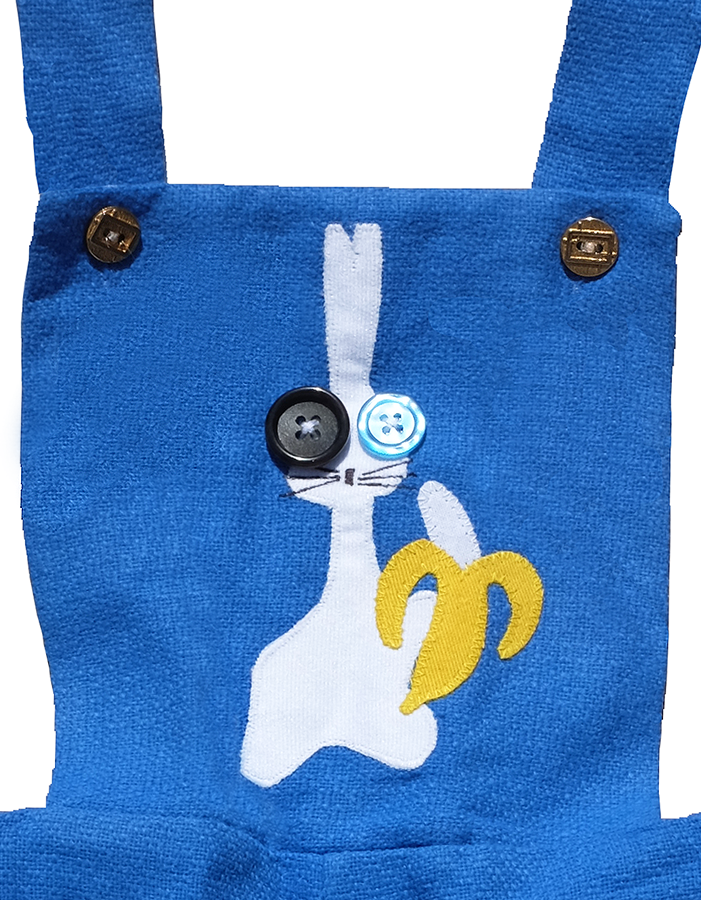 """THE BUNNY UNDERGROUND"" OVERALLS - 18M - product images  of"