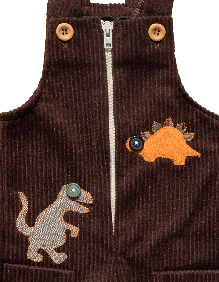 """BIG EYE DINOS"" CORDUROY OVERALLS - 12-18M - product images  of"