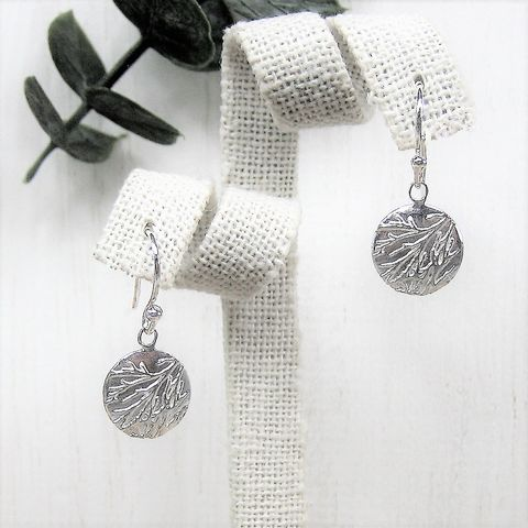 Frost,unique.heart..silver.earrings britannia silver quirky unusual textured