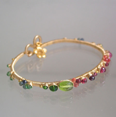 Vibrant,Gemstone,Bracelet,,Gold,Filled,Bangle,,Wire,Wrapped,,Rainbow,,Peridot,,Spinel,,Sapphire,,Tourmaline,,Made,to,Order,Jewelry,Bracelet,Vibrant_Bracelet,Gemstone_Bracelet,Gold_Filled_Bangle,Wire_Wrapped,Tourmaline_bangle,Original_Design,Signature_bracelet,red_spinel_bangle,rainbow_bangle,sapphire_bangle,peridot_bangle,bellajewels,wire_wrapped_bangle,14k gold filled wire,g