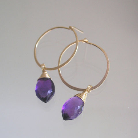 Amethyst,Gold,Filled,Hoops,,Gemstone,Post,Dangles,,Minimalist,Design,,Lightweight,and,Small,,Purple,Earrings,Jewelry,Amethyst_Gold,Filled_Hoops,Gemstone_Post,Post_Dangles,Minimalist_Design,and_Small,Purple_Earrings,Gemstone_Earrings,Bella_jewels,Bellajewels,Gemstone_Hoops,Purple_Gold_Hoops,14k gold filled wire,amethyst,See more details for f