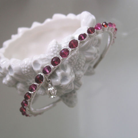 Garnet,Gemstone,Wire,Wrapped,Sterling,Silver,Cuff,,Bracelet,with,Garnet,,Sapphire,,Spinel,,and,a,Pomegranate,Charm,Jewelry,Red_Gemstone,Raspberry_Gem_Cuff,Magenta_Gem_Cuff,Wire_Wrapped,Wrapped_Bracelet,Pomegranate_Charm,Stackable_Cuff,Original_Design,Spinel_Silver_Cuff,Bellajewels,Bella_jewels,Sterling_Silver_cuff,Garnet_Silver_Cuff,argentium sterling silver