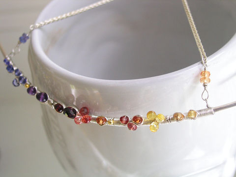 Gemstone,Sterling,Silver,Curved,Bar,Necklace,,Argentium,,Wire,Wrapped,Choker,with,Tanzanite,,Amethyst,,Sapphires,,Garnet,,Made,to,Order,Jewelry,Necklace,Signature_Necklace,Gemstone_Necklace,Artist_Made,Tanzanite_Choker,Amethyst_Choker,Wire_Wrapped,Sapphire_Choker,Twilight_Gem_Choker,Gemstone_Choker,Silver_Gem_Choker,Silver_Bar_Necklace,Bellajewels,Curved_Bar_Necklace,argentium silver wire