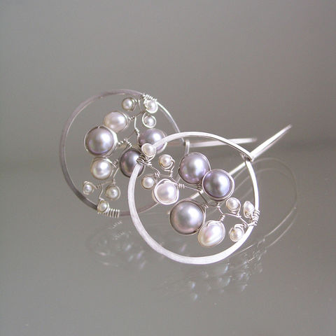 Sterling,Silver,Pearl,Hoops,,Modern,Minimalist,Earrings,,Made,to,Order,Jewelry,Earrings,Wire_Wrapped_Hoops,Modern_Minimalist,Bridal_Jewelry,Artist_Made,Lightweight_Hoops,White_Pearl_Hoops,Original_Design,Silver_Earrings,Pearl_Earrings,Bellajewels,Bella_Jewels,sterling_silver,Pearl_Hoops,argentium sterling silver wire,pearls