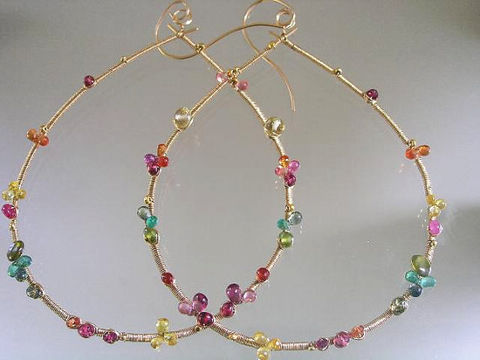 Large,14k,Gold,Filled,Multi,Gemstone,Teardrop,Hoops,,Wire,Wrapped,Earrings,with,Sapphires,,Emerald,,Ruby,,Tourmaline,Jewelry,Filled_Gemstone,Teardrop_Hoops,Original_Design,bellajewels,Large_14k_Gold,Multi_Gemstone,Sapphire_Hoops,Rainbow_Gold_Hoops,Emerald_Teardrops,Dramatic_Hoops,Signature_Gem_Hoops,Dramatic_Original,Colorful_hoops,gold filled,14k gold filled,w