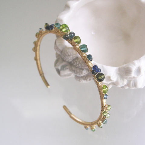 14k,Solid,Gold,Green,Gemstone,Cuff,,Wire,Wrapped,Stackable,Bracelet,with,Apatite,,Vesuvianite,,Tourmaline,,Sapphire,,Emerald,,Peridot,Jewelry,Green_Gemstone,14k_Solid_Gold_Cuff,Sapphire_Bracelet,Stackable_Jewelry,Apatite_Gold_Cuff,Vesuvianite_Cuff,Tourmaline_Cuff,Original_Design,Signature,Bellajewels,Ocean_Gem_Bracelet,Artist_Made_Cuff,Hand_Forged_Bracelet,14k solid gold wire,g