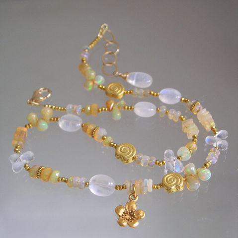 Opal,and,Moonstone,Vermeil,Necklace,,Skinny,Jewels,Bracelet,,Original,Design,Jewelry,Necklace,Opal_and_Moonstone,Moonstone_Necklace,Opal_necklace,Gemstone_Vermeil,Beaded_Bracelet,Flower_Charm,Vermeil_Nautilus,Nautilus_Charms,Skinny_Jewels,Original_Design,Bellajewels,Bella_jewels,layering_necklace,opals,moonstone,nautilus charms,fl