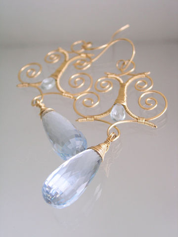 Blue,Topaz,14k,Gold,Filled,Sculptural,Rococo,Earrings,,Large,Quartz,Wire,Wrapped,Chandelier,Dangles,Jewelry,Earrings,Handwrought_Earrings,Original_Design,Gold_Filled_Earrings,Sculptural_Earrings,Blue_Quartz_Earrings,Topaz_Chandelier,Statement_Earrings,Bridal_Chandeliers,Wire_Wrap_Dangles,bellajewels,Bridal_Jewelry,Mother_of_Bride,Moroccan_Earrings,14k g