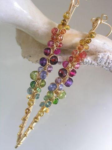 Rainbow,Gemstone,Encrusted,14k,Gold,Filled,Earrings,,Linear,Earrings,with,Amethyst,,Tanzanite,,Tourmaline,,Sapphire,,Spinel,,Peridot,,Made,to,Order,Jewelry,bellajewels,Rainbow_Gemstone,Encrusted_Earrings,tourmaline_earrings,colorful_earrings,14k_Gold_Filled,Linear_Earrings,Amethyst_Earrings,Tanzanite_Earrings,Sapphire_Earrings,Spinel_Earrings,Peridot_Earrings,Long_Dramatic,14k gold fill,wire