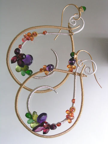 Mixed,Metal,Gemstone,Teardrop,Hoops,,Sculptural,Statement,Earrings,with,Amethyst,,Sapphire,,Tsavorite,,Garnet,,Diopside,Jewelry,Original_Design,Signature_Hoops,Mixed_Metal,Gemstone_Hoops,Statement_Teardrop,Teardrop_Earrings,Amethyst_Dangles,Sculptural_Sapphire,mixed_metal_hoops,teardrop_hoops,sculptural_hoops,bellajewels,wire_wrapped_hoops,14k gold filled wire,arg