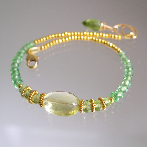 Tsavorite,and,Lemon,Quartz,Beaded,Layering,Bracelet,with,Peridot,Vermeil,Beads,Jewelry,Original_Design,Signature_Bracelet,Gemstone_Bracelet,Vermeil_Bracelet,Lemon_Bracelet,Quartz_Bracelet,Tsavorite_Bracelet,Layering_Bracelet,Slender_Bracelet,Bellajewels,Beaded_Bracelet,Artisan_Made,Peridot_Bracelet,matte gold beadalon,14k g