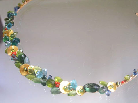 Green,Gemstone,14k,Gold,Filled,Wire,Wrapped,Collar,,Gem,Encrusted,Necklace,with,Sapphire,,Emerald,,Apatite,,Tourmaline,,and,Vintage,Coral,Jewelry,Signature_Collar,Green_Gemstone,Gold_Filled_Collar,Gem_Necklace,Encrusted_Necklace,Hand_Wrought_Collar,Sapphire_Necklace,Original_Design,Emerald_Gold_Collar,wire_wrapped_collar,bellajewels,artist_made_necklace,handmade_gold_collar,14k gol