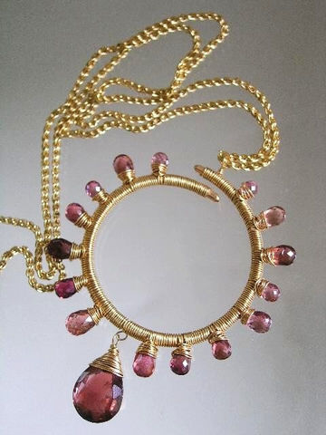 Pink,Tourmaline,Starburst,Circle,Pendant,,Wire,Wrapped,Gemstone,Necklace,Jewelry,Original_Design,Signature_Pendant,Pink_Tourmaline,Tourmaline_Pendant,Gemstone_Pendant,Circle_Pendant,Sculptural_Necklace,Tourmaline_Necklace,Gold_Filled__Pendant,Sunburst_pendant,bellajewels,hand_wrought,handcrafted_pendant,gold filled ch