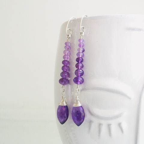 Linear,Sterling,Silver,and,Stacked,Ombre,Amethyst,Earrings,Jewelry,Ombre_Purple_Dangles,Long_and_Slender,Linear_Earrings,Amethyst_Earrings,Violet_Stems,Bellajewels,Amethyst_Stems,Ombre_Amethyst,Purple_earrings,lavender_earrings,long_gem_dangles,Sterling_Silver,Stacked_Ombre,argentium silver wire,amethyst