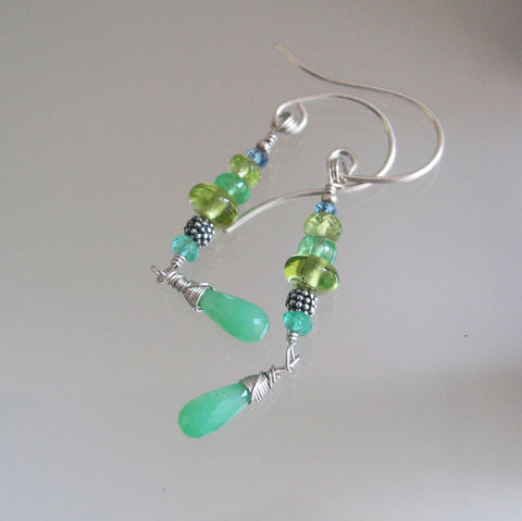Green,Gemstone,Sterling,Silver,Linear,Earrings,with,Peridot,,Chyrsoprase,,Tsavorite,Jewelry,Green_Linear,Sterling_Earrings,Peridot_Chyrsoprase,Chrysoprase_Dangles,Lightweight_Jewelry,Tsavorite_Gemstones,BellaJewels,Chrysoprase_Stems,Linear_Gem_Dangles,Emerald_Earrings,Green_Gemstone,Sterling_Silver,Silver_Earrings,argentium ster