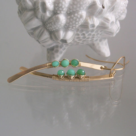 Chrysoprase,Curved,Linear,Earrings,,14k,Gold,Filled,Hand,Wrought,Stems,,Wire,Wrapped,,Shaded,Green,,Modern,and,Minimalist,Jewelry,Earrings,Chrysoprase_Curved,Linear_Earrings,14k_Gold_Filled,Hand_Wrought_Stems,Wire_Wrapped,Shaded_Green,Artisan_Made,Original_Design,Signature_Stems,Bellajewels,Green_Gold_Earrings,Chrysoprase_Dangles,Spring_Jewelry,14k gold filled wire,chrysopra