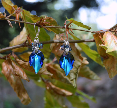 Blue,crystal,leaf,earrings,in,sapphire,blue,Swarovski,crystals,-,elven,jewelry,fairy,dark,mori,witch,fantasy,elf,Jewelry,Earrings,blue_crystal_earrings,leaf_earrings,blue_Swarovski_earrings,blue_leaf_earrings,elven_leaf_earrings,elf_earrings,leaf_jewelry,fairy_jewelry,fairy_earrings,blue_fairy_earrings,witch_earrings,sapphire_blue_earrings,sapphire_crystal_earrings