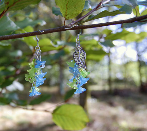 Seaweed,blue,and,green,flower,earrings,-,water,sprite,fairy,jewelry,sea,witch,/,mermaid,fantasy,woodland,Jewelry,Earrings,seaweed_earrings,blue_and_green_earrings,flower_earrings,blue_flower_earrings,forest_earrings,forest_jewelry,mermaid_jewelry,mermaid_earrings,woodland_earrings,fairy_flower_earrings,flower_cluster_earrings,blue_flower_jewelry,past