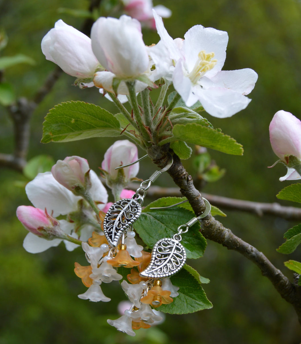 Orange Blossom Earrings Sweet Lolita Fairy Jewellery Spring