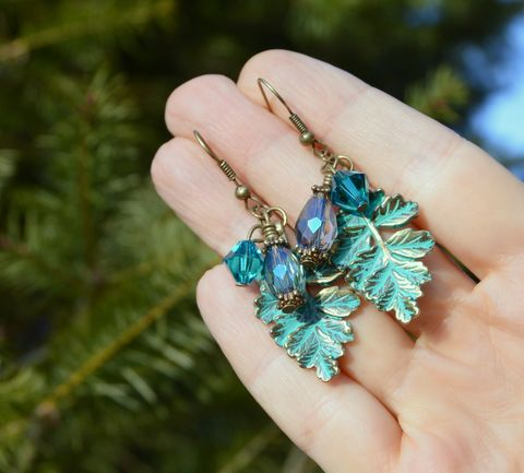 Elven,earrings,with,leaves,and,Swarovski,crystals,-,woodland,jewelry,green,crystal,elf,Jewelry,leaf_earrings,leaf_jewelry,elf_earrings,forest_earrings,fairy_jewelry,elven_earrings,green_leaf_jewelry,green_leaf_earrings,leaf_dangle_earrings,fairy_earrings,forest_fairy,woodland_earrings,woodland_jewelry,faerie_earrings