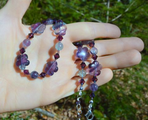 Fluorite,crystal,choker,-,purple,flower,necklace,in,semi-precious,stones,and,Swarovski,gothic,fairy,witchy,Jewelry,Necklace,fluorite,fluorite_necklace,fluorite_choker,crystal_choker,fluorite_crystal_choker,purple_flower_choker,purple_crystal_choker,violet_crystal_choker,flower_choker,purple_flower_necklace,semi_precious_crystal_choker,flower_necklace,purple_fa