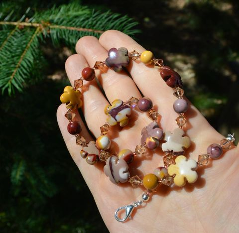 Mookaite,necklace,with,crystals,-,boho,hippie,flower,choker,in,earth,tones,mookaite,jasper,jewelry,Jewelry,Necklace,mookaite_necklace,mookaite_choker,mookite,mookite_necklace,boho_choker,hippie_choker,crystal_choker,mother_earth_jewelry,jasper.jasper_jewelry_mookaite_jasper_jewelry,natural_stone_choker