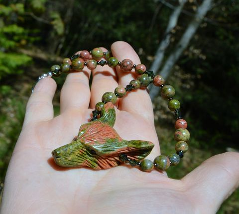 Unakite,necklace,with,wolf,pendant,-,wood,elf,jewelry,wicca,pagan,forest,Jewelry,Necklace,wolf_necklace,wolf_jewelry,unakite,unakite_necklace,unakite_jewelry,pagan_necklace,elf_necklace,wiccan_jerwelry,wicca_necklace,wolf_amulet,green_stone_necklace,witch_jewelry,animal_jewelry,boho_necklace