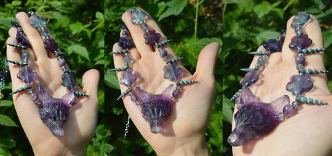 Fluorite,crystal,wolf,necklace,-,mermaid,jewelry,with,unicorn,horns,pastel,goth,witch,fluorite,fluorite_necklace,fluorite_crystal_necklace,fluorite_jewelry,purple_fluorite_necklace,fluorite_crystal_pendant,witchy_pendant,wolf_necklace,fluorite_wolf,crystal_witch_necklace,wolf_jewelry,mermaid_necklace,pastel_goth_necklace,pastel_witch