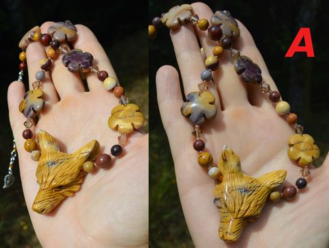 Mookaite,necklace,with,wolf,and,crystals,-,jasper,beaded,pendant,boho,jewelry,coyote,wolf_necklace,pagan_jewelry,mookaite_necklace,mookaite_choker,wolf_choker,mookaite_jewelry,mookite_necklace,hippie_jewelry,boho_jewelry,pagan_necklace,boho_necklace,bohemian_jewelry,coyote_necklace, coyote_jewelry,Mother_Earth_jewelry