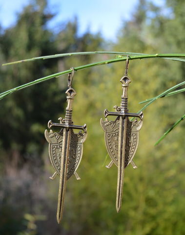 Gothic,Sword,Earrings,-,medieval,jewelry,in,bronze,witch,viking,shieldmaiden,sword_earrings,long_swor_earrings,bronze_sword_earrings,sword_dangle_earrings,gothic_sword_earrings,witchy_earrings,stega_fashion_jewelry,viking_shieldmaiden_jewelry,gothic_dangle_earrings,fantasy_sword_earrings
