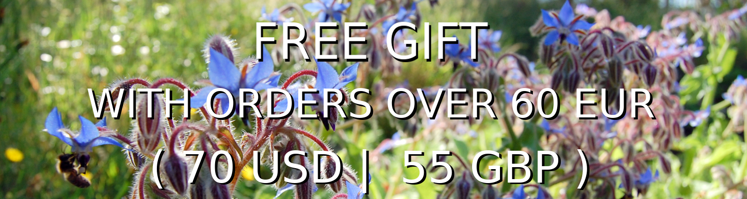 Free Gift when you spend 60 Euros (70 Dollars or 65 British Pounds) at herissonrose.com