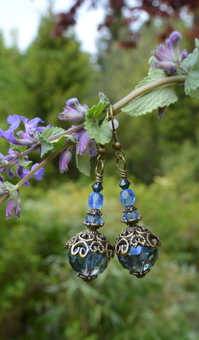 Mermaid,earrings,-,Blue,glass,beaded,vintage,style,drop,Sea,Witch,Art,Nouveau,jewelry,blue_glass_earrings,mermaid_earrings,mermaid_jewelry,blue_beaded_dangle_earrings,boho_glass_earrings,boho_beaded_earrings,blue_glass_bead_earrings,blue_witchy_earrings,1920's_beaded_earrings,boho_dangle_earrings,large_bead_earrings,sea_witch_jewelry,sea_w