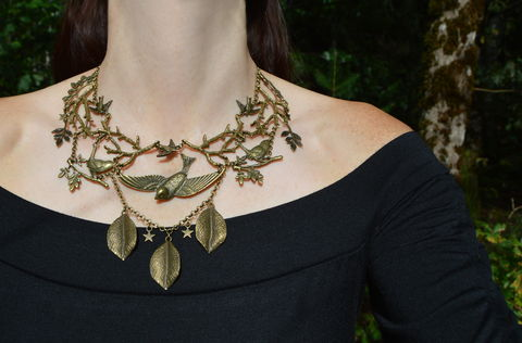 Wild,Bird,Twig,Necklace,-,Swallow,and,Wren,Hedgerow,Witch,Jewelry,Mori,Girl,bird_necklace,witch_jewelry,necklace_witch_birds,twiggy_necklace,forest_witch_jewelry,swallow_bib_necklace,wild_birds_necklace,twig_necklace,branch_necklace,bronze_bird_necklace,songbird_necklace,bird_bib_necklace,hedge_witch_jewelry,mori_girl_jewelry