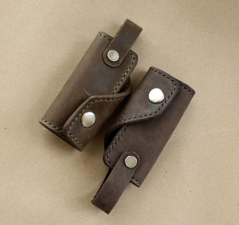 Brown,leather,key,holder