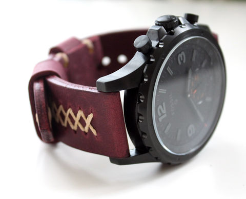 Leather,strap,Purple,handmade watch strap purple, watch strap purple, watch strap, leather strap purple