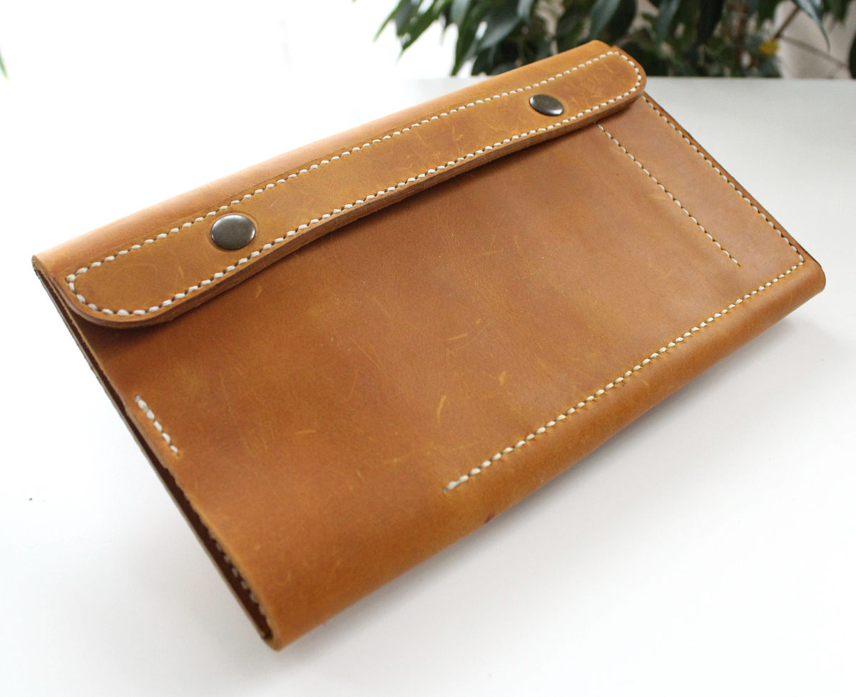 Leather knitting Circular needle case Short  - product images  of