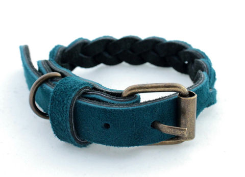 Handmade,blue,leather,collar,handmade blue leather collar, blue leather collar, leather collar